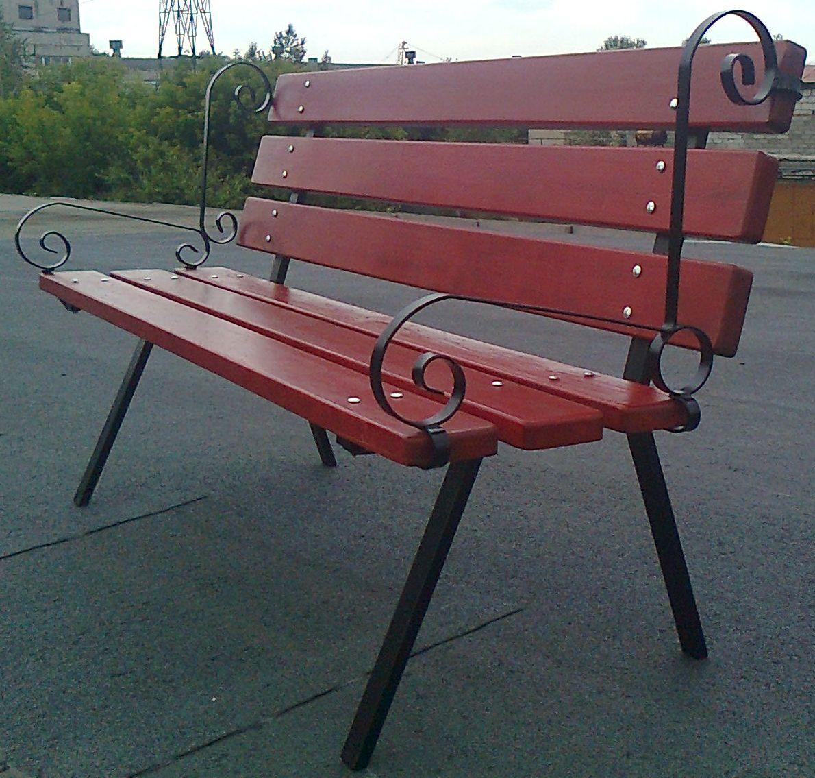 Скамейка с каркасом из металла своими руками 92